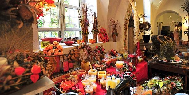 Blumengeschäft und Floristik Innenansicht