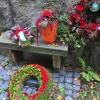 Urnenschmuck und Trauerkranz
